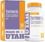 Turmeric Curcumin with Bioperine - Best Absorption and Bioavailability, Anti-Inflammatory and Natural Antioxidant with 95% Curcuminoids for Joint Pain Relief - 60 Capsules