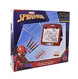 MC- Spider-Man lavagnetta richiudibile con Accessori per disegnare e colorare, Colore Rosso, SP0677
