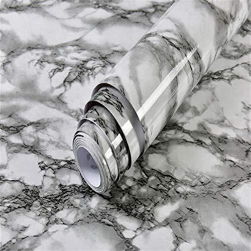 Impermeable fácil aplicación fondo de pantalla ext Color sólido vinilo auto-adhesivo del papel pintado de la sala del gabinete de cocina Muebles adhesivos de PVC resistente al agua Mármol Contacto Pap