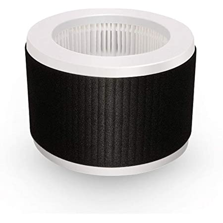Nispira EPI810 True HEPA Replacement Filter Compatible with KOIOS and MOOKA EPI810 Air Cleaner Air Purifier. Odor Eliminator. 3 Stage Filtration. 1 Filter