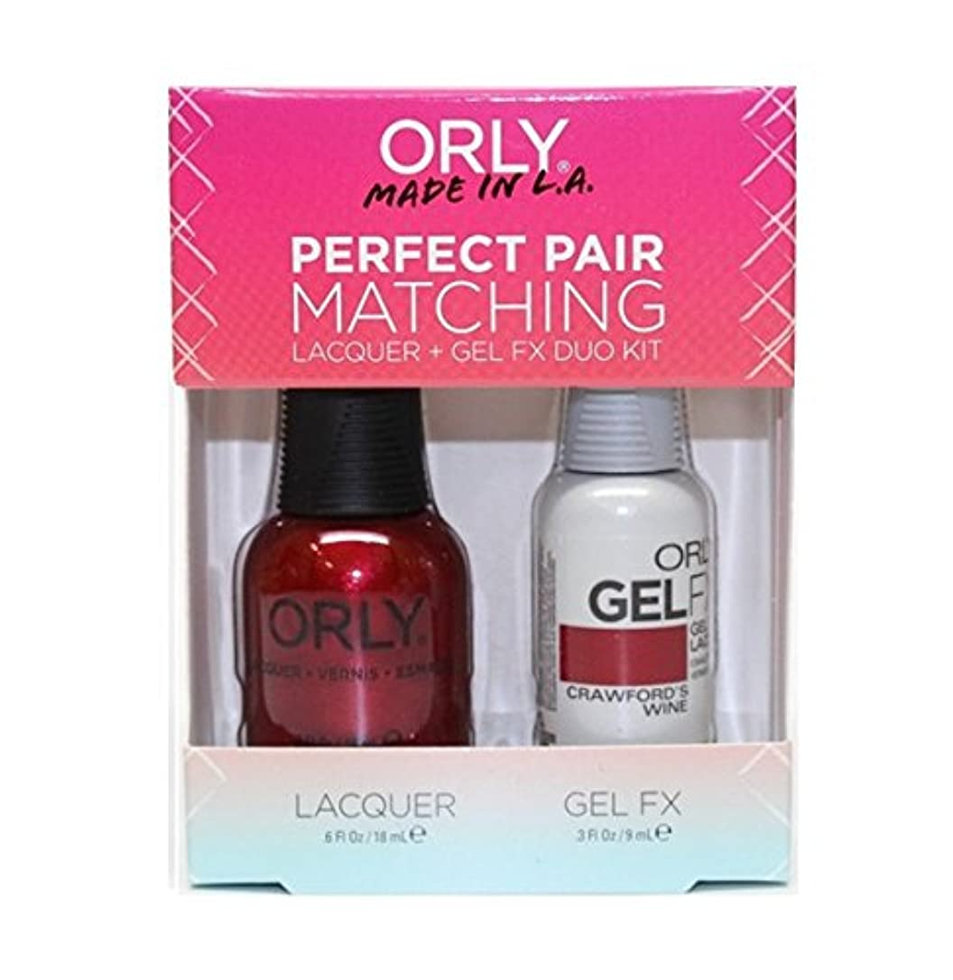 権限オーナメント機会Orly - Perfect Pair Matching Lacquer+Gel FX Kit - Crawford's Wine - 0.6 oz / 0.3 oz