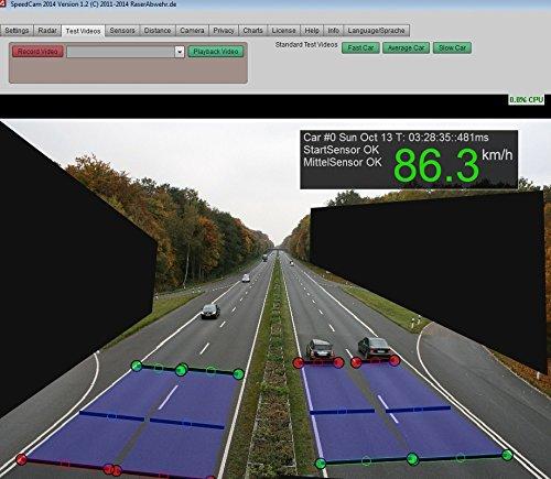 SpeedCam - Raser selbst blitzen - Geschwindigkeitsmessung per Webcam - Genauer als Radarpistole !