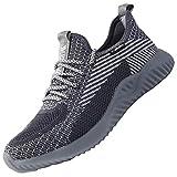 UCAYALI Zapatos de Seguridad Hombre Trabajo Comodos Ligeros Transpirables Zapatillas Trabajo Seguridad Deportivo Punta de Acero para Electricista Soldador Construccion Verano(014 Gris, 43 EU)