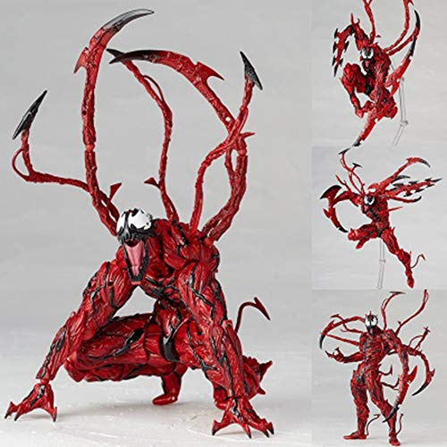 Byx HF Villain Super Killer Venom en Red Carnage Dodelijke Beschermer voor Tafelblad Model, met Vervangbare Accessoires, Hoog 18 cm (7.0 inch)