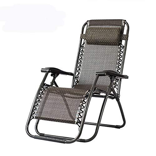 HJXX reclinable verano fresco cojín plegable silla de playa individual portátil pequeño jardín y camping al aire libre tumbonas cama