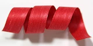 100% Biodegradable Natural Ribbon | 33 Solid Colors | Ribbon for Crafts | Cotton Curling Ribbon | Holiday Ribbon | Wrapping Ribbon | Eco-Friendly Ribbon (Red, 1/2