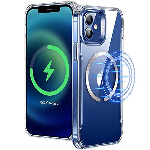 ESR Funda Compatible con iPhone 12/12 Pro (2020), Magnética Carcasa Compatible con MagSafe y Carga inalámbrica, Funda HD Claro Híbrido, Anti-arañazos, Antideslizante, Transparente