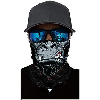 JackRuler Face Shield Bandana Motorrad Schlauchtuch Multifunktionstuch Halstuch D/ünner Schlauch mit Muster f/ür Herren Motorrad Radfahren Fischen Wandern UVSchutz #01