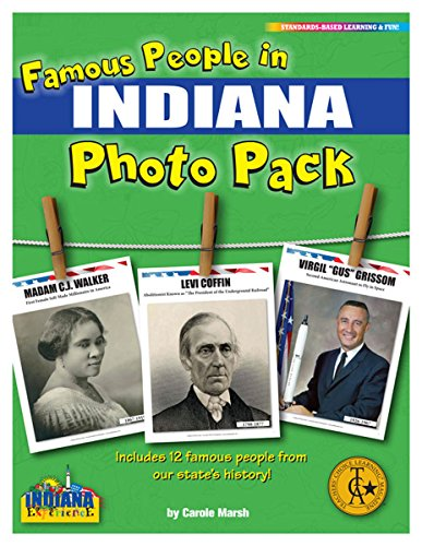 Famous People from Indiana Photo Pack (12) (Indiana...