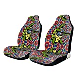 YAGVK Grate-ful Dead Dancing Turtle Car Seat Cover Protector Cushion Premium Covers for Women, Men, Girls, Boys Fits Most Cars, Truck, SUV Or Van