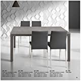 Tables & Chairs Table extensible avec plan gris en bois et structure en métal 120x80