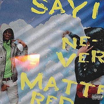 Say I Never Mattered