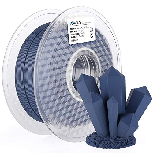 AMOLEN Matte PLA Filament 1.75mm, Navy Blue 3D Printer PLA Filament, 3D Printing Material for 3D Printer, 1KG