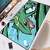 Pokémon Rayquaza Dragon Flight Ancient Pokémon Game Anime Mouse Pad PC Big Table Pad Size Comfortable Feel Sliding Lock Laptop Keyboard Pad (Size : 2mm)
