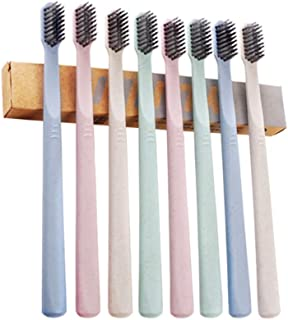 YUNLI, 8 Pack Extra Soft Wheat Toothbrush for Sensitive Gums