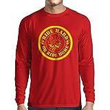 N4688L Camiseta de Manga Larga Ride Hard! Biker Clothing (X-Large Rojo Multicolor)