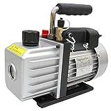 WEIMALL 真空ポンプ 排気速度 60L/S オイル逆流防止機能付 R134a R410a クーラー 真空引き 小型 エアコン修理