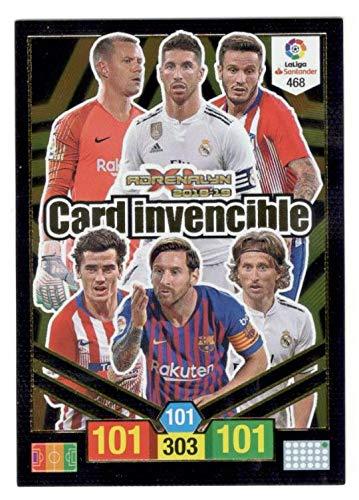Panini Card Invencible Balón de Oro Adrenalyn XL 2018 2019 Messi Ramos
