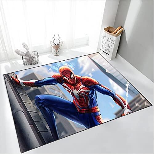 zzqiao Tapis Tapis Rectangle Anime Dessin Animé Spiderman Vestiaire Salon Chambre Chevet Salle De Bain Sol Antidérapant Tapis Décoratif