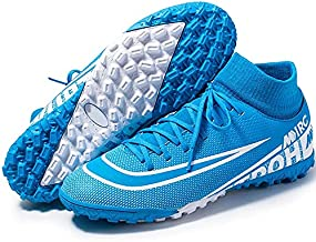 Niber Big Kids Soccer Boots Shoes TF AG Athletic Sneaker Football Boots Cleats High-top Sock for Outdoor Indoor Competition Training Sneaker