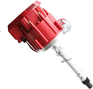 MOSTPLUS Racing HEI Distributor Red Cap Super Coil for Chevy SBC 305/350/400 Small Block..