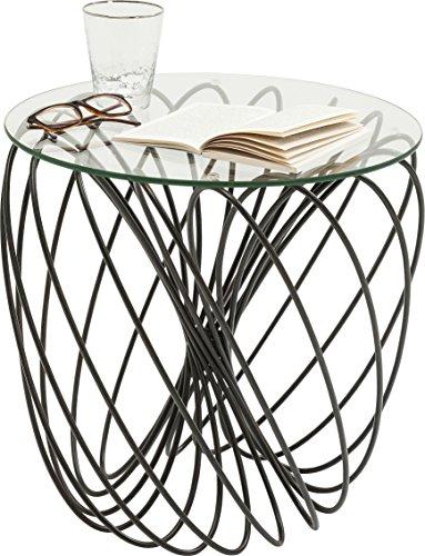 Kare Durchmesser 45cm Mesa Auxiliar Wire Ball, Negro, 45 x 45 x 45 cm