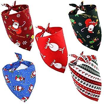 Bandana de Noel,Bandana de Chien,Bandana Chie,Bandanas pour Petit Chiens ,Bandana pour Chiot ,écharpe pour Chien,Bandana Chien Noel ,Bandana Chien Femelle