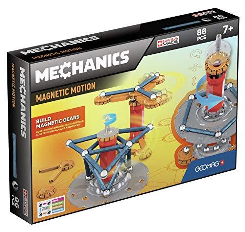 Geomag- Mechanics Motion 761 Juego de construcción magnético de 86 Piezas, Multicolor, 87 (GM761)
