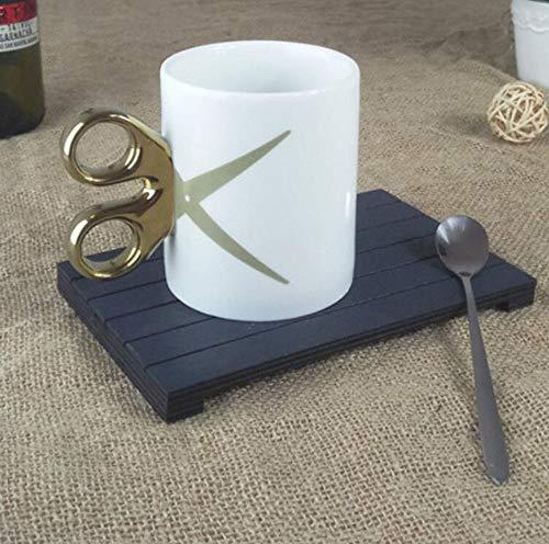 Qnmbdgm kopje schaar handvat goud zilver keramiek mok koffiemok theekop drinken gebruiksvoorwerpen verjaardag