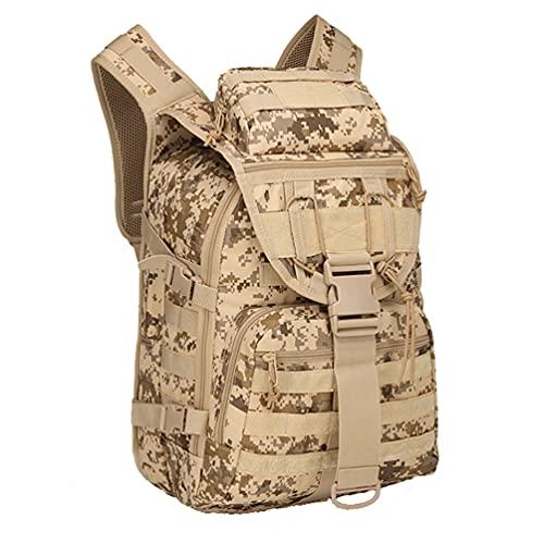 Ketamyy Military Tactical Backpack, Multifunction Waterproof Large Rucksack Outdoor Molle Assault Pack Multi-Pocket Combat Survival Bag Hunting Hiking Camping Fishing Travel Luggage Desert Digital