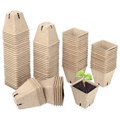 Schramm® Anzuchttöpfe 20, 60 oder 100 Stück aus Zellulose Höhe: 5,5 cm biologisch abbaubar Pflanztopf Pflanztöpfe, Anzahl:100 Stück…