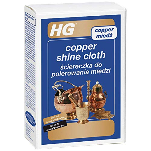HG 496000106 Copper Shine Cloth 1 Cloth - Special Impregnated Cloth- Copper Cleaning - Long-Lasting Shine and Protection