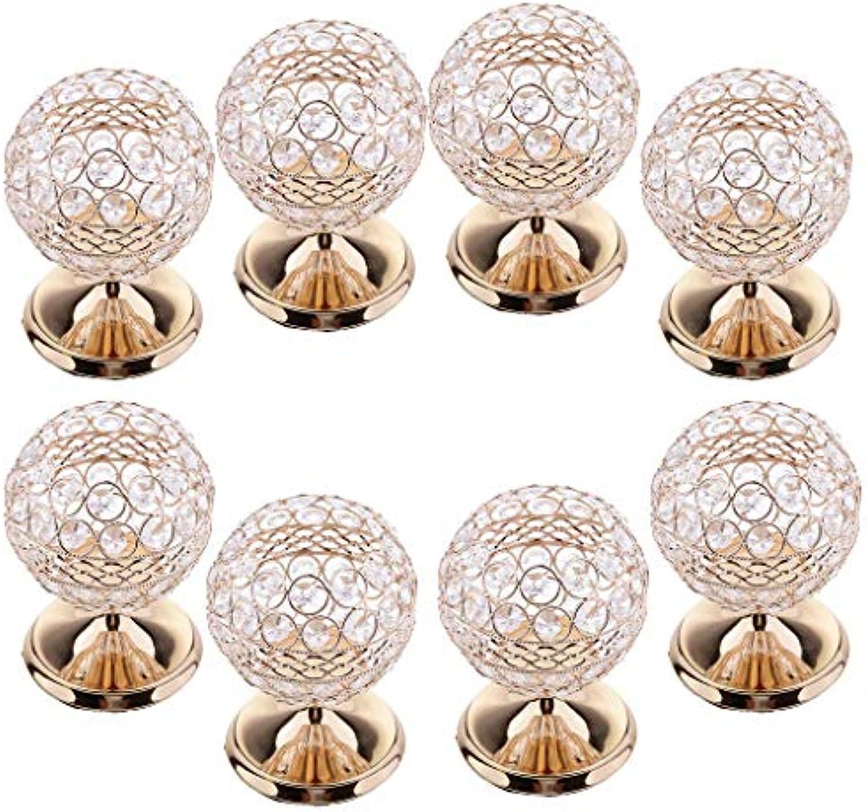 SM SunniMix 8 Stk. Kristalllampe Teelicht Leuchter Kerzenstnder Kerzenleuchter Kerzenhalter