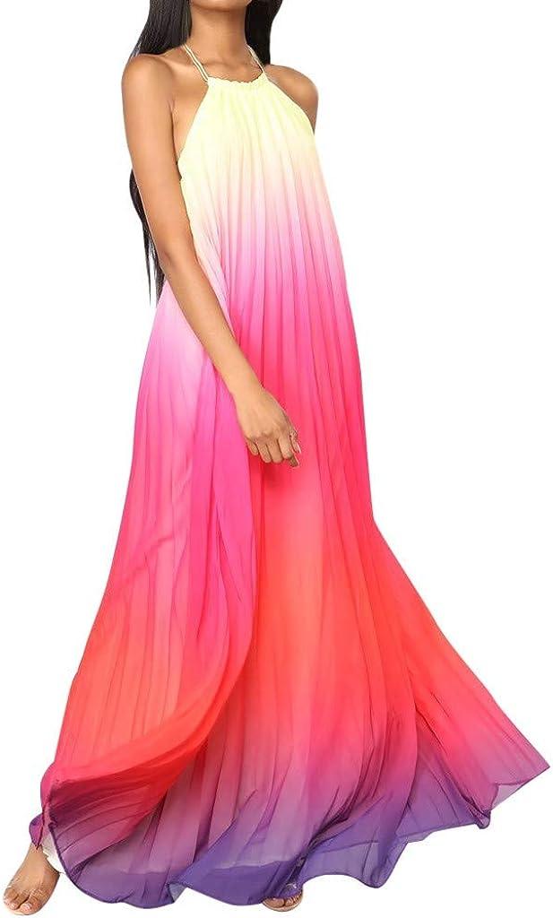 Dresses for Women, Limsea 2019 Women's Sexy Fashion Halter Beach Dress Neck Chiffon Dress