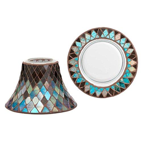 Yankee Candle Autumn Mosaic - Paralume + piatto, Vetro, multicolore, 19 x 19 x 15 cm