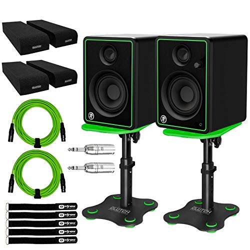 Buy Mackie CR4-X 4 Active Powered Multimedia Studio Monitor Speakers Pair w Stands
