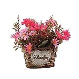gormyel Ins Style - Maceta de flores artificiales de margarita, flores artificiales, arreglo de flores para decoración de la casa