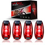 UMISHI LED Safety Light (4 Pack) - Clip On Running Lights for Runner, Kids, Joggers, Bike, Dogs, Walking The Best Accessories for Your Reflective Gear, Nighttime, Bicycle Cycling