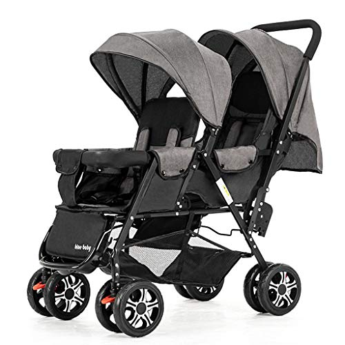Buy Bargain Stroller Zzmop Luxury, Contours Curve Tandem Double for Infants, Toddlers or Twins - 360...