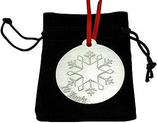 Adorno de Metal para árbol de Navidad de 10º Aniversario de Boda