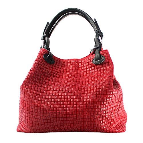 Chicca Borse 80047, Borsa a Tracolla Donna, Rosso, 34x29x18 cm (W x H x L)