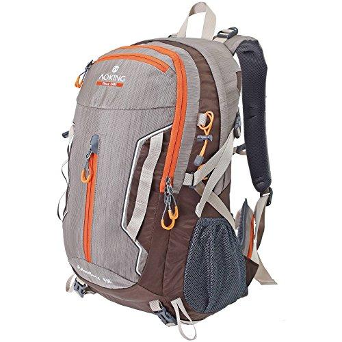 Multifunktionsrucksack Campus Daypack Rucksack City Rucksack/Schule Arbeit & Freizeit/Bag A / 4 Outdoor Schulrucksack (Beige)