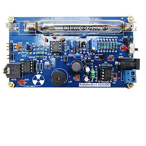 BAOSHISHAN Zusammengebauter DIY Geigerzähler Kit Modul Nuclear Radiation Detector Geiger Zähler-Set Strahlungsdetektor zusammengebaut