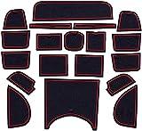 Coche Alfombrillas antideslizantes para Honda HR-V Vezel 2015~2019, Antideslizantes alfombrilla de almacenamient interior del coche