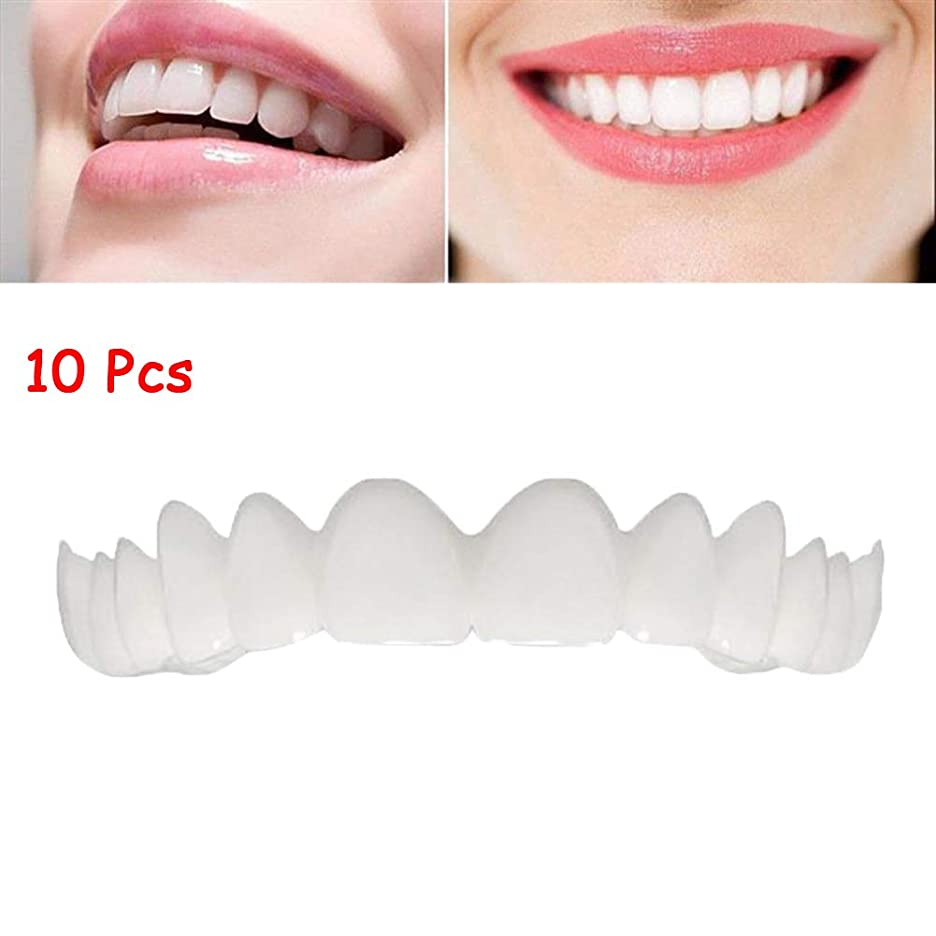 10個の一時的な化粧品の歯の義歯は歯を白くするブレースを模擬