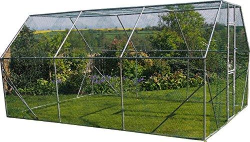FeelGoodUK Freilaufgehege für Hühner, Kaninchen, Hasen, Meerschweinchen / Hühner Laufstall 4M X 3M X 2M - Für Geflügel, Kaninchen, Hasen, Hühner - Metallstift zum verschließen