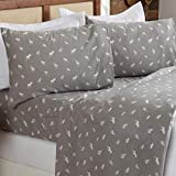 Great Bay Home 4 Piece Extra Soft Enchanted Woods 100% Turkish Cotton Flannel Sheet Set. Heavyweight, Warm, Cozy, Luxury Winter Bed Sheets. Lakeview Collection (Queen, Enchanted Woods)