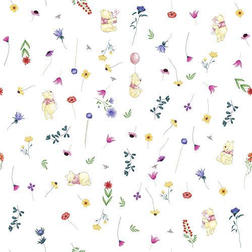 Disney Vlies Tapete von Komar - Winnie Pooh Summer- 1 Rolle - Größe: 10,05 x 0,53 m - Kinderzimmer, Babyzimmer, Puuh, Ferkel