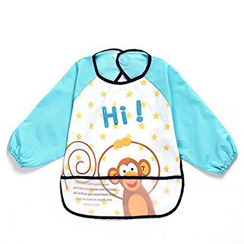 étanche avec manches Protection contre l'humidité Bavoir Bébé 'Baby 1 à 3 ans & # xff08 - Bleu, jaune, noir & # xff09 ;