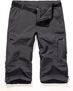 Women's Quick Dry Cargo Hiking Shorts, Outdoor Anytime Casual Straight Leg Knee Capri Pants